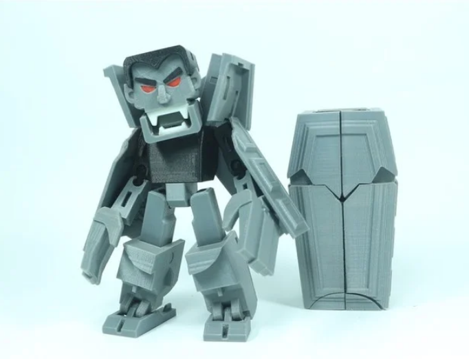 Transformable Dracula for Halloween free 3d print model download