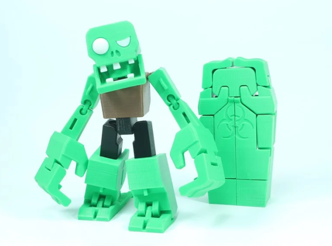 Transformable Zombieman for Halloween free 3d print model download