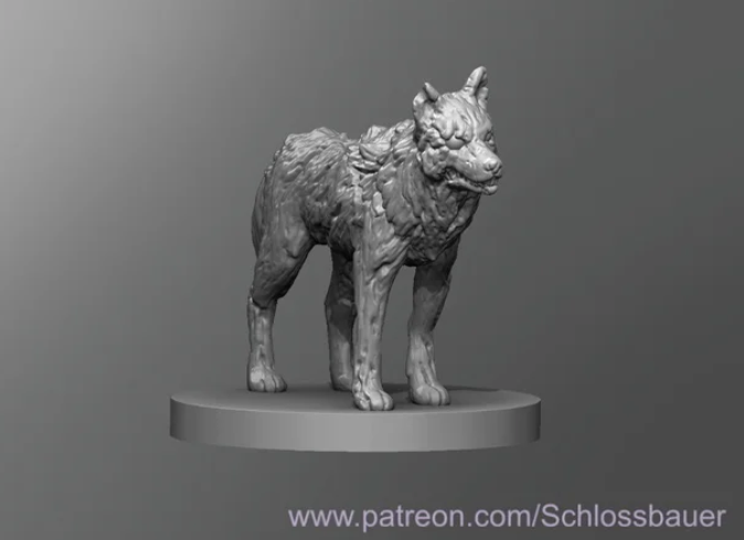 Zombie Wolf free 3d print model download