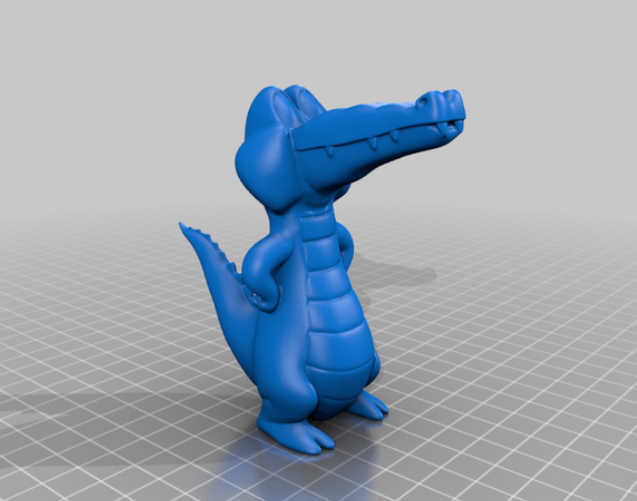 Croc free 3d print model download