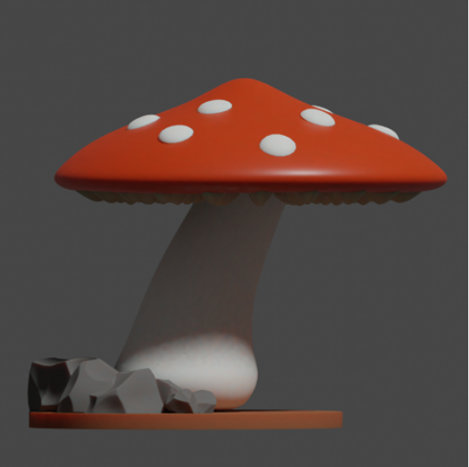 Giant Mushrooms scaled for 28mm tabletop (modular terrain, easy to print) free 3d print model download