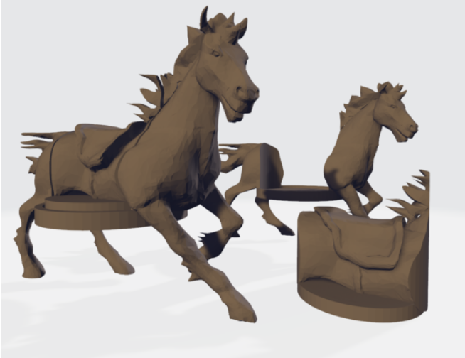 Horse Running Mount + Hole Fill free 3d print model download