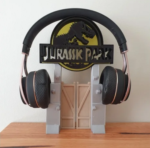 Jurassic Park Headphone Stand or Ornament free 3d print model download