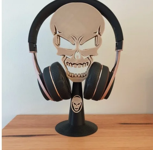 Skull headphone stand free 3d print model download