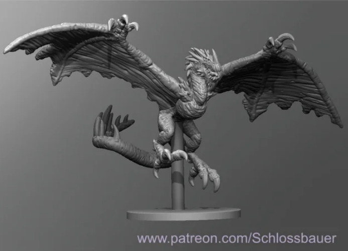 Winged Wretch free 3d print model download