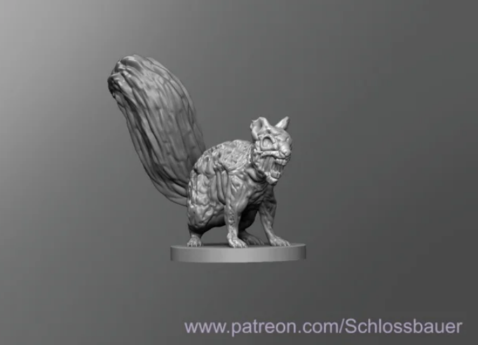 Zombie Squirrel free 3d print model download