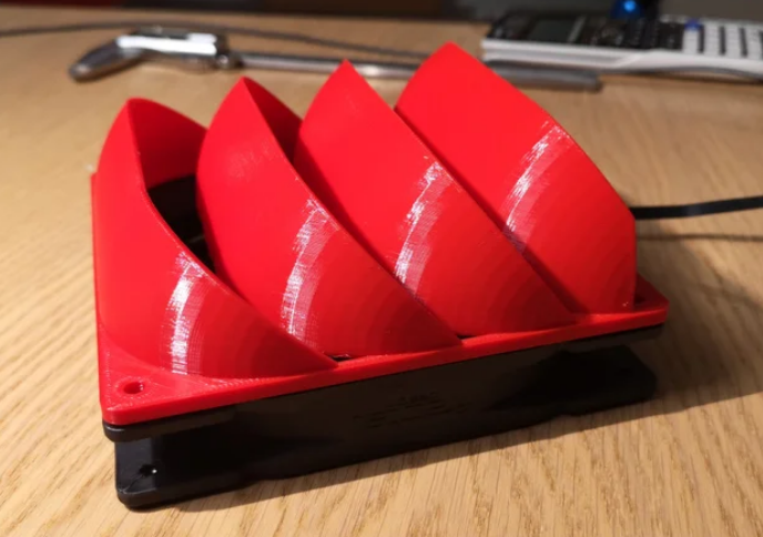 140mm 45-60° fan duct (for water cooling) free 3d print model download