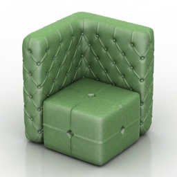 Armchair Chester Pouf free 3d model download