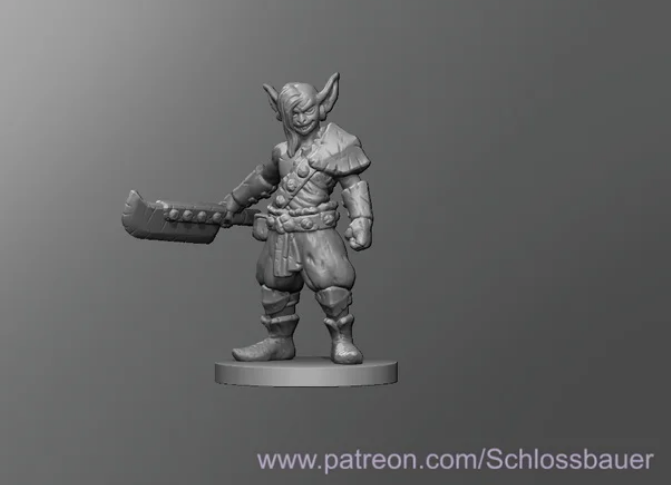Goblin free 3d print model download