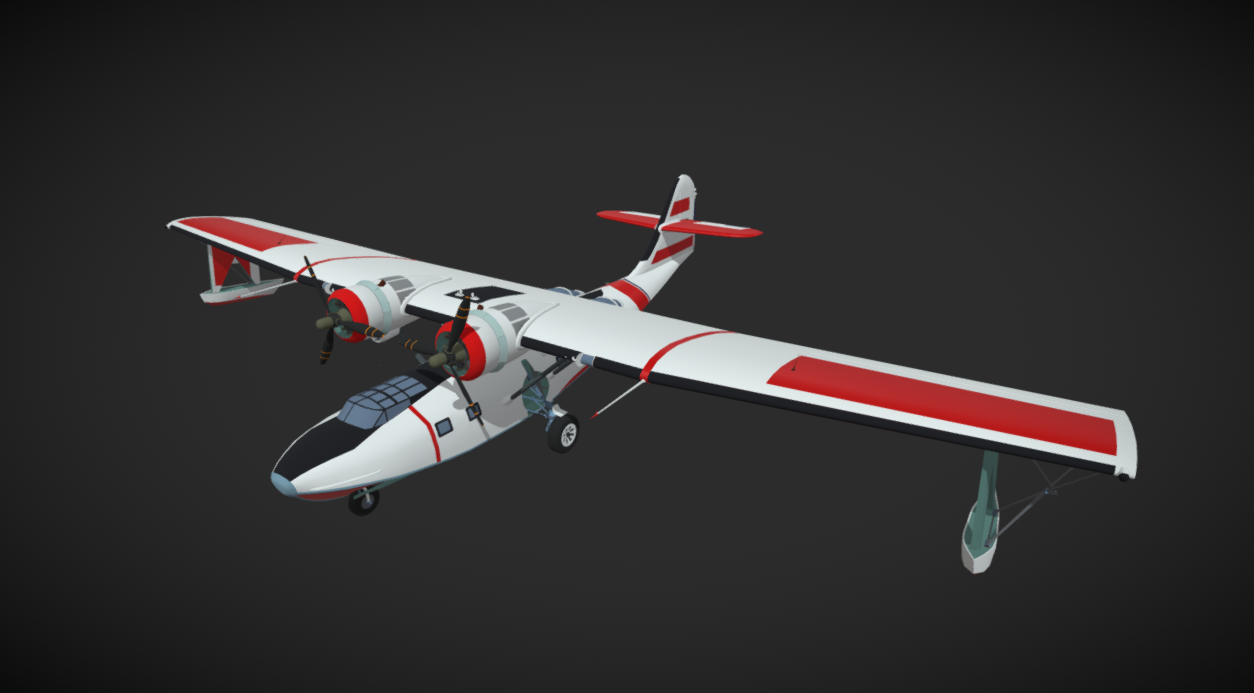 PBY 6A Catalina USACG free 3d model download