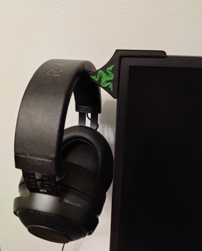 Razer headphone monitor mount free 3d print model download