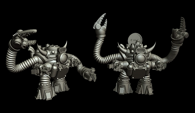 Retro Space Orc Bunkerbot free 3d print model download