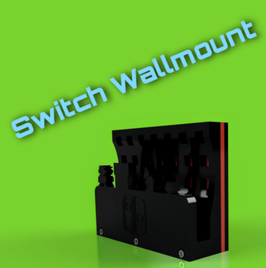Wallmount for Nintendo Switch free 3d print model download
