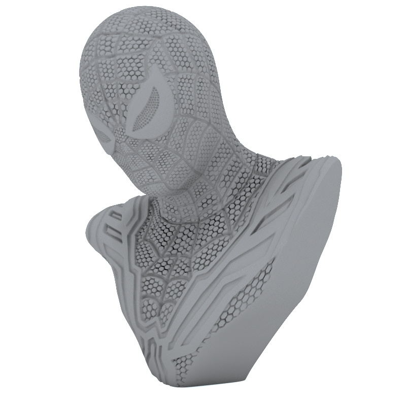 spider man bust 3d model for printing