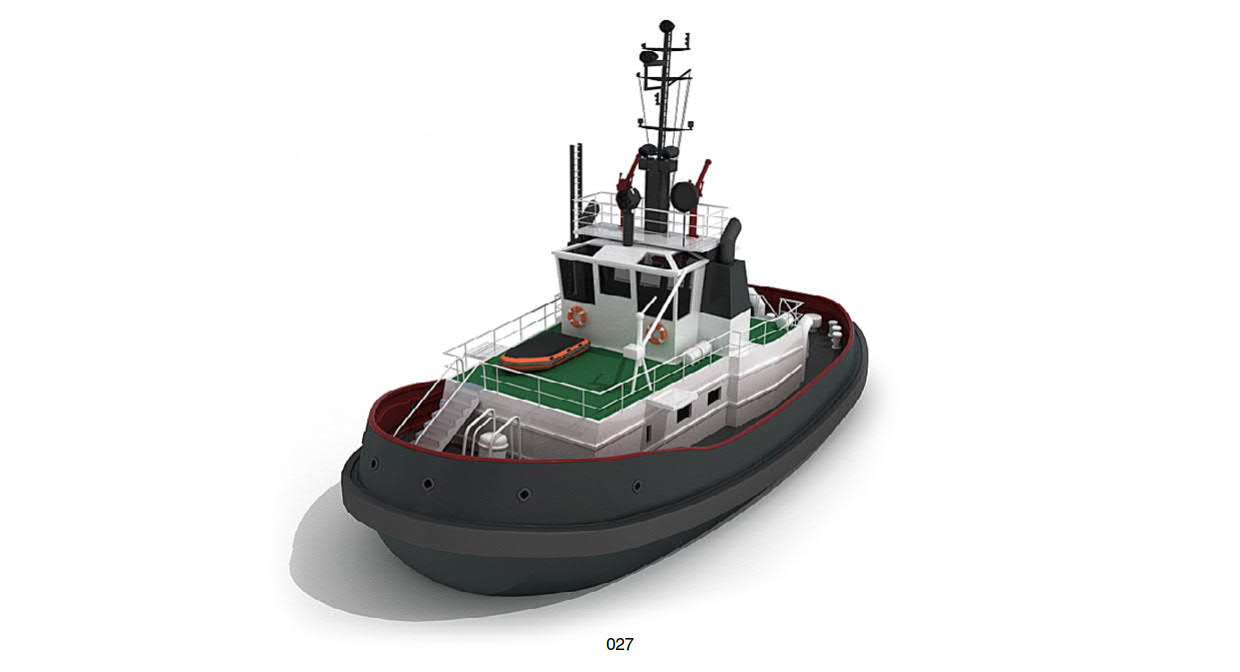 Tugboat 3D models