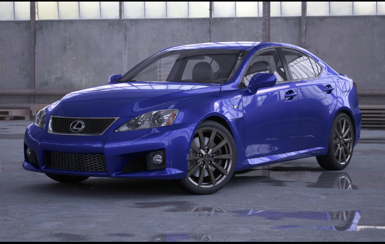 Lexus IS - F 3d model