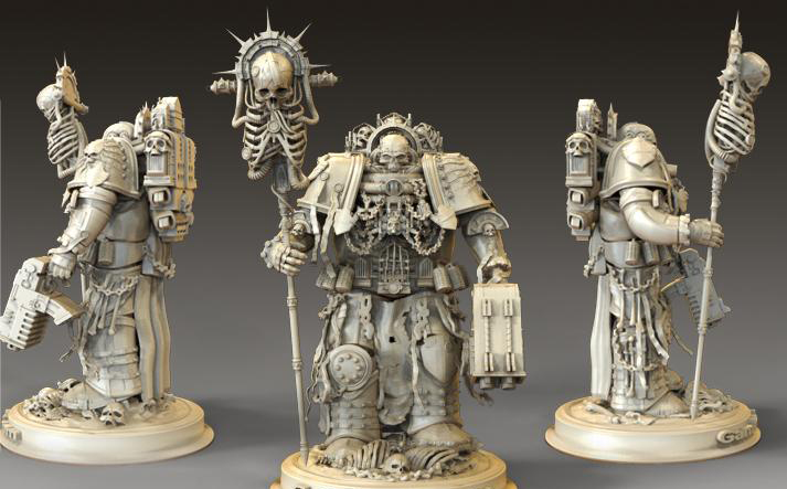 chaplain warhammer 3d models for printing