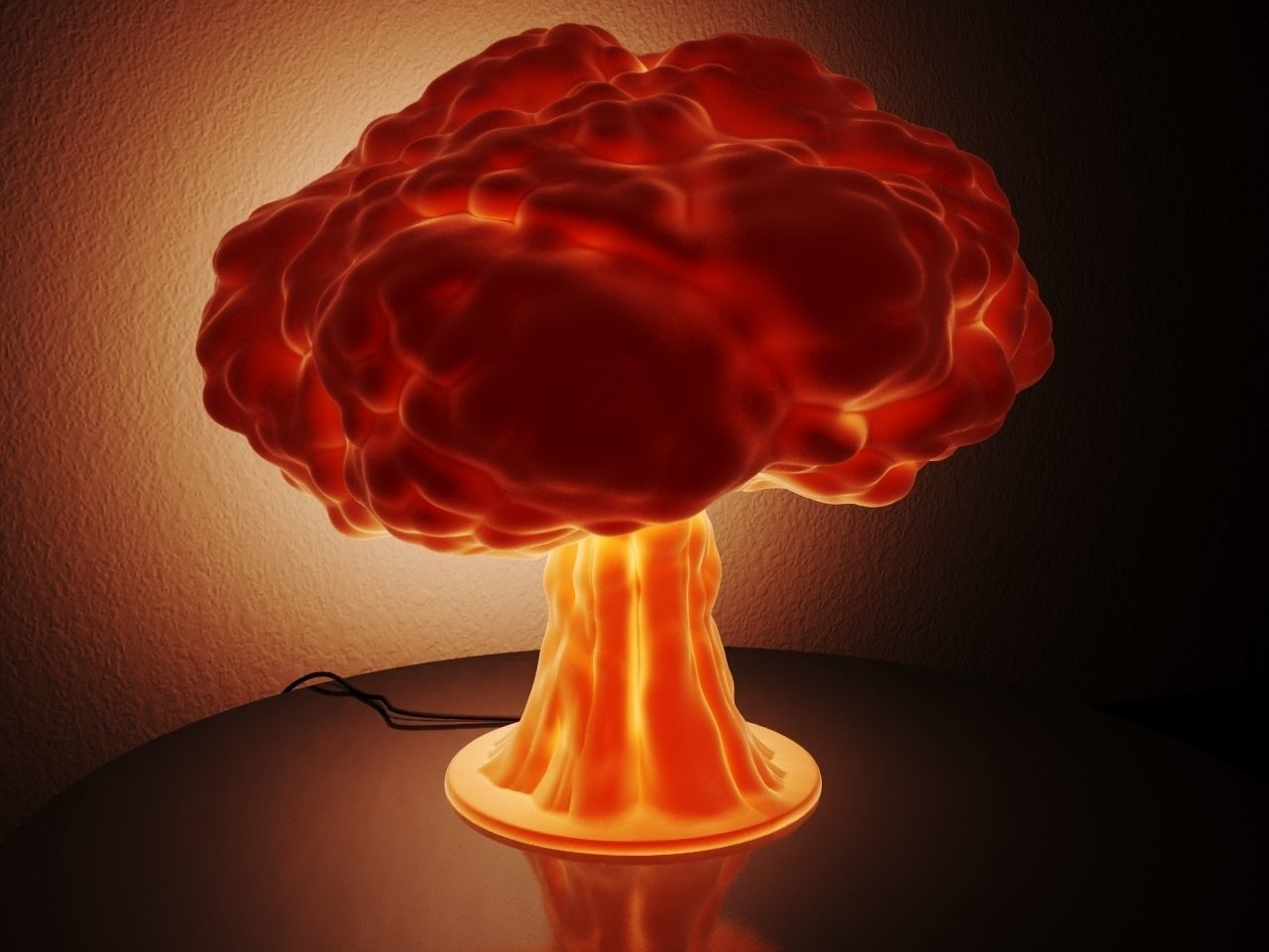 Lamp - Nuclear Explosion 3d model for printing
