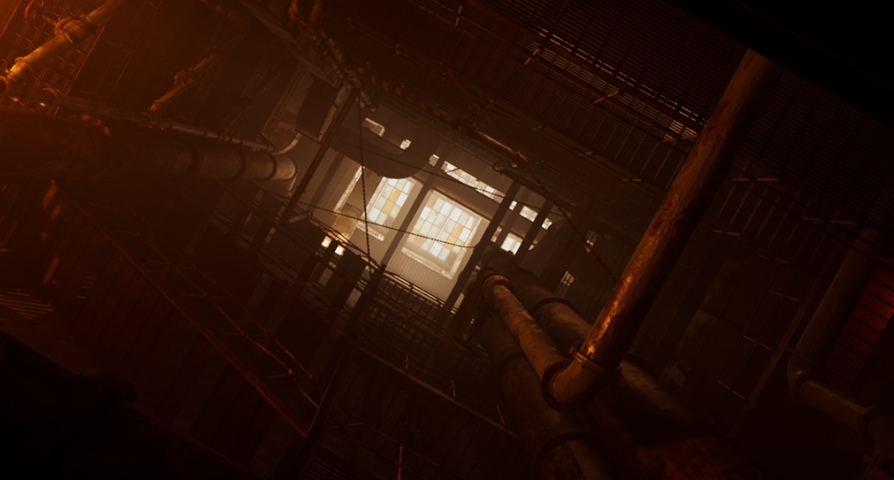 Abandoned Industrial Stairwell unreal engine 4 free asset download