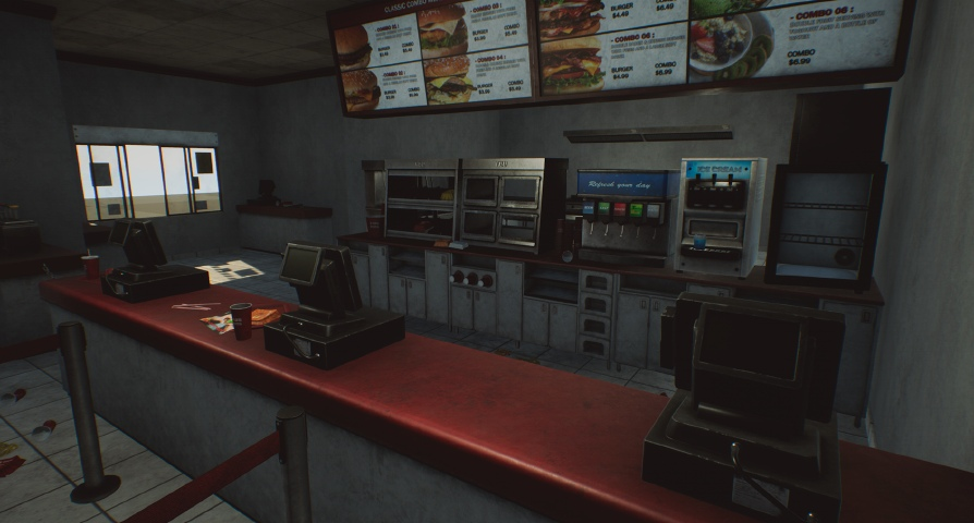 Abandoned Fast Food Building  unreal engine 4 free asset download